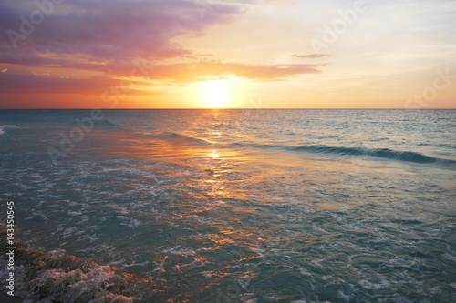 Photo  Sonnenuntergang in der Karibik