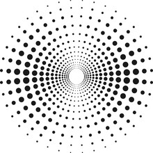 Circle With Dots For Design Pr...
