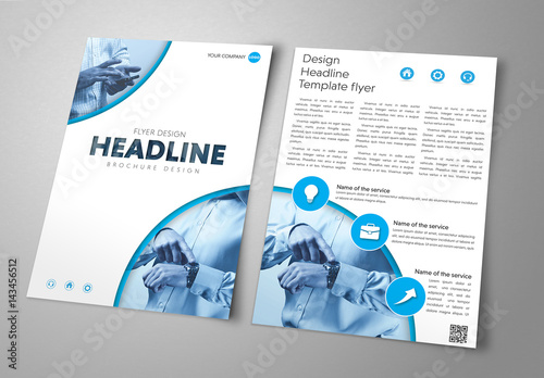 circular header and footer flyer layout 2 buy this stock template