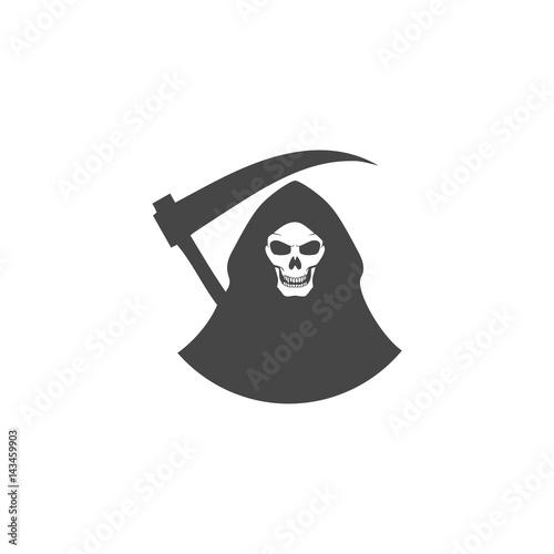 Death black icon - Illustration Wallpaper Mural