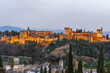 view of Alhambra, Granada, Spain