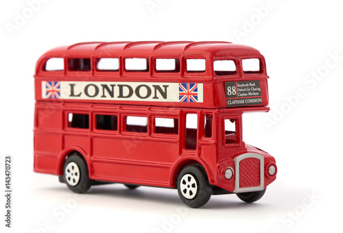 Fotografie, Tablou  Red London Bus Toy Souvenir