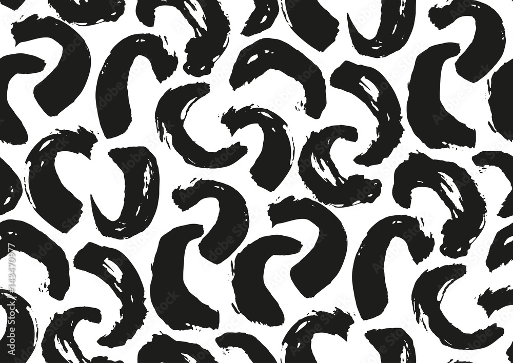 Camouflage brush strokes seamless pattern