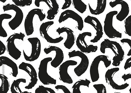 Fototapety, obrazy: Camouflage brush strokes seamless pattern