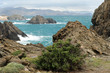 Cap de Creus coastal scenic on a stormy day Costa Brava Catalunya Spain