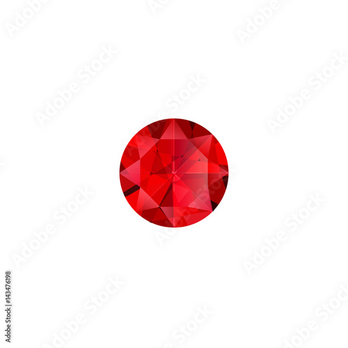 Fotomural  Ruby stone luxury jewel vector isolated illustration