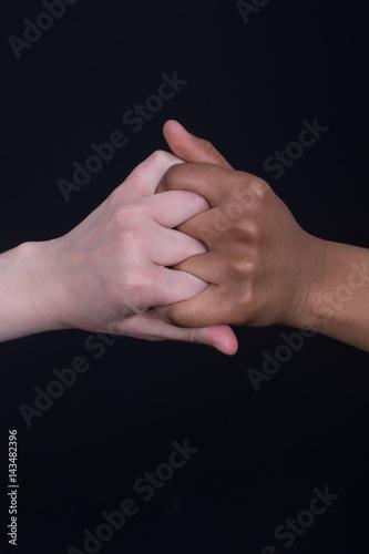 Ajuste de mãos. não ao racismo Canvas Print