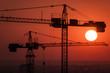 Crane over the urban landscape - real estate development