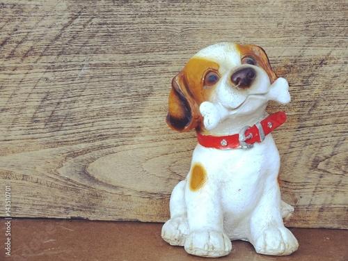 Fototapeta decorative puppy dog children s rooms interior garden decor ceramic statue obraz na płótnie