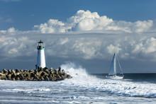 Lighthouse Walton On Santa Cruz Shore