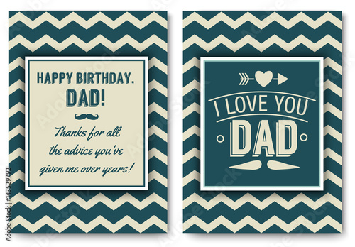 Dad Birthday Card With Words Of Love Buy This Stock Vector And