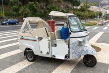 Tuk Tuk Classic Retro Excursion Car For Tourists. Madeira Island, Portugal.