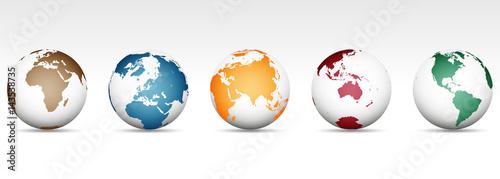 Globen aus verschiedenen Perspektiven