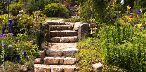 Fotobehang Tuin Idyllische Gartenanlage