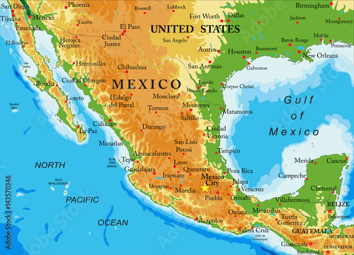 Mexico Relief Map Buy This Stock Vector And Explore Similar