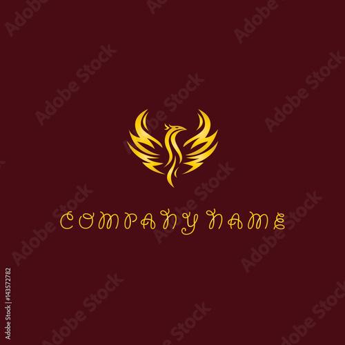 Poster fly bird symbol logo
