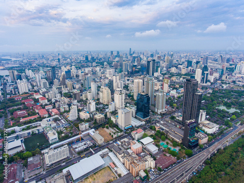 Tuinposter Aerial view of Cityscape of Bangkok