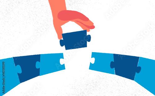 Canvas Prints Bridge Unire due sponde