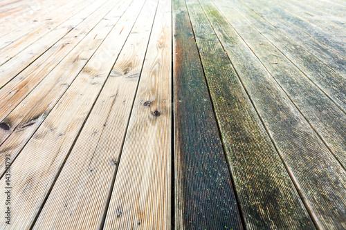 Holzterrasse reinigen Fototapete