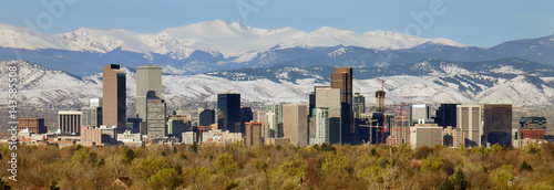 Photo sur Toile Batiment Urbain Downtown of Denver, Colorado