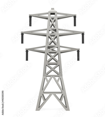 Photo Power Transmission Tower Isolated