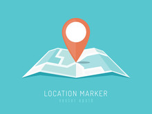 Orange Location Marker On City...