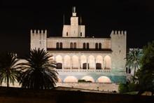 Almudaina Palace Of Palma By Night, Mallorca. Spain