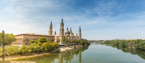 El Pilar panorama, Zaragoza. Spain