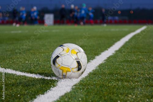 Fototapeta Piłka na boisku piłkarskim obraz