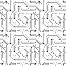 Computer Microchip Seamless Pa...