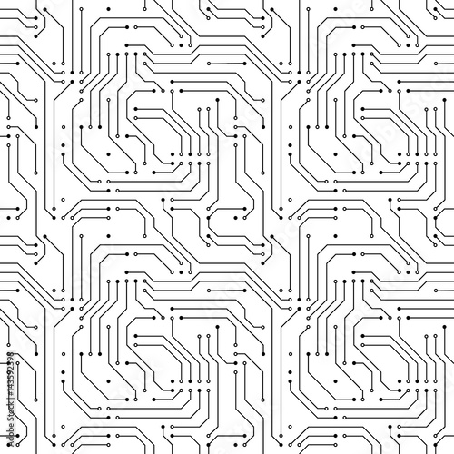 Tapety Futurystyczne  wzor-mikroczipu-komputerowego-na-bialym-tle