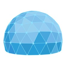 Geodesic Dome. Vector.