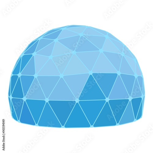 Tela Geodesic dome. Vector.