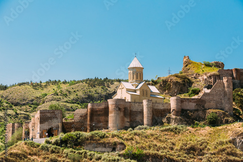 Scenic View Of Narikala Fortress And Bethlehem Church In Tbilisi Poster Mural XXL