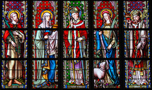 Stained Glass - Saints Emilius, Joanna, Eugene, Agnes And Augustine