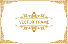 Gold Photo Frame With Corner T...