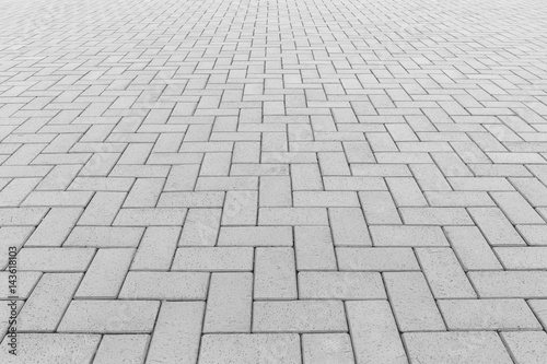 Fototapeta Paver brick floor also call brick paving, paving stone or block paving