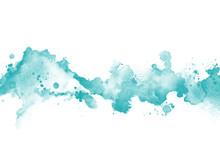 Türkisfarbener Hintergrund Im Wasserfarben Und Aquarell Design