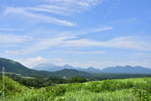Deurstickers Bergen 蒜山方面から見た夏の大山(2016年8月)