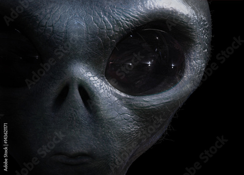 Canvas Prints UFO alien