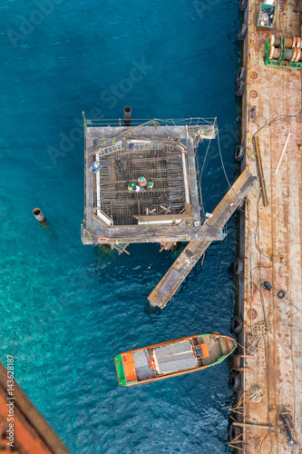 finest selection 70105 01389 Aqaba, Jordan, 10/10/2015, Metal and concrete Jetty ...