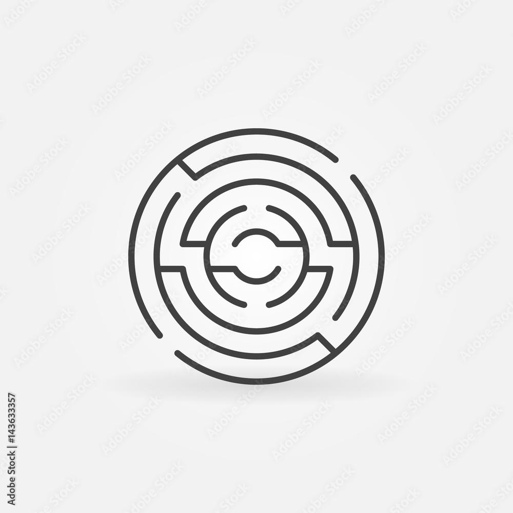 Fototapeta Circular maze icon
