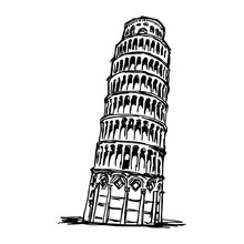 Leaning Tower Of Pisa - Vector...