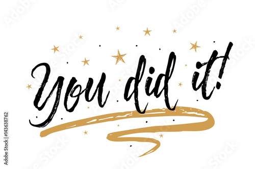 Pinturas sobre lienzo  You did it card, banner
