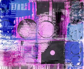 Obraz Grunge Stil abstrakte Malerei pink blau