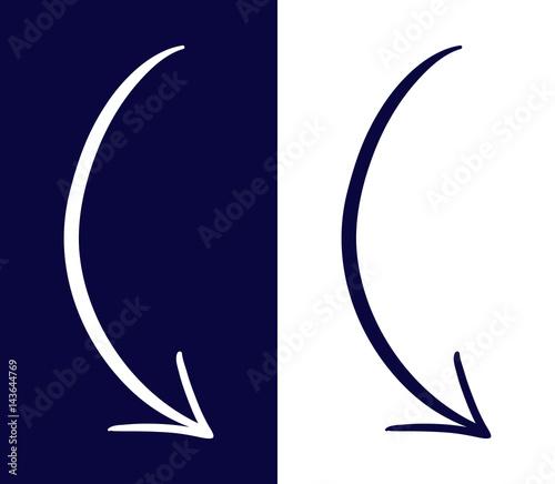 Foto  Sign of Drawn Arrows