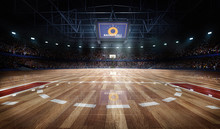 Professional Basketball Court ...