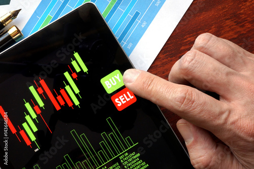 Fotografie, Obraz  Online trading concept