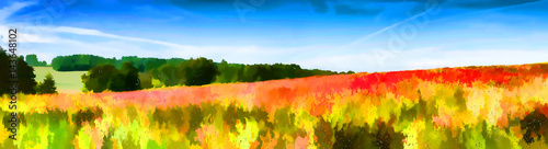Photo Stands Melon Paysage impressionniste