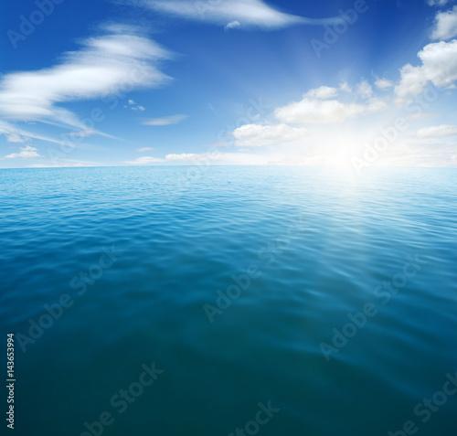 Fototapeta Blue sea and sun obraz na płótnie